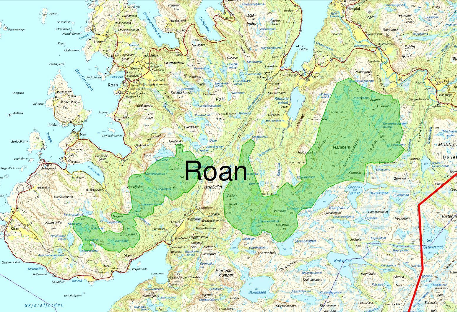 roan kart Fakta om prosjektene   Åfjord kommune roan kart